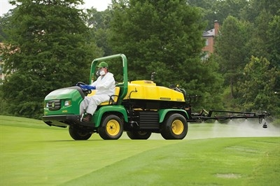 Rzi-action® Drum Pumps are used for turf maintenance