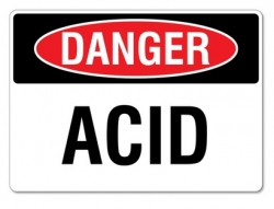 Danger Acid Workplace Sign